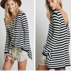 Free People Counting Stripes Sweater Dress Tunic